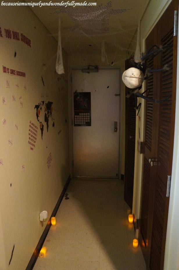 Halloween themed hallway.