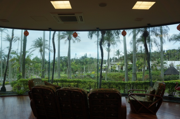 A spectacular view at a dining facility at Southeast Botanical Garden in Okinawa City, Okinawa, Japan. (東南植物楽園 Tōnan Shokubutsu Rakuen)