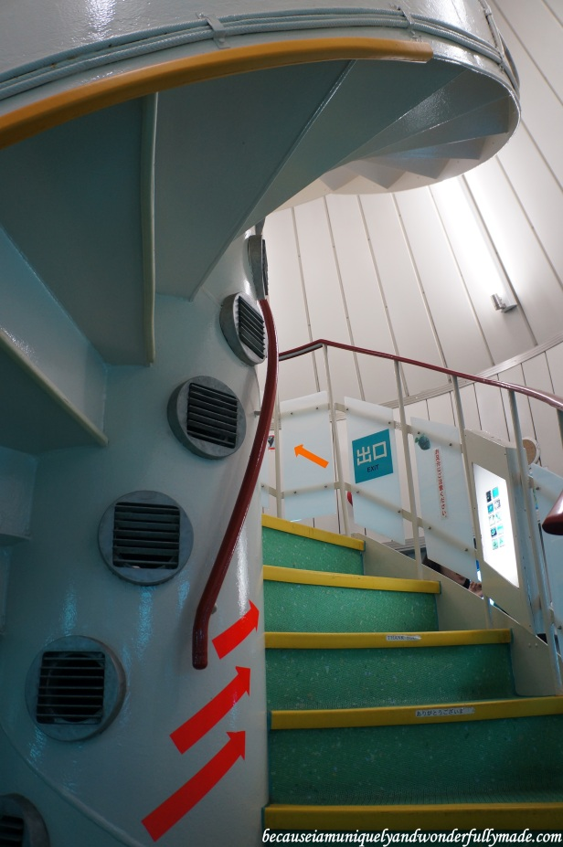 The spiral corridor at the underwater observatory tower descends 5 meters giving visitors a 360 degree view of marine life.