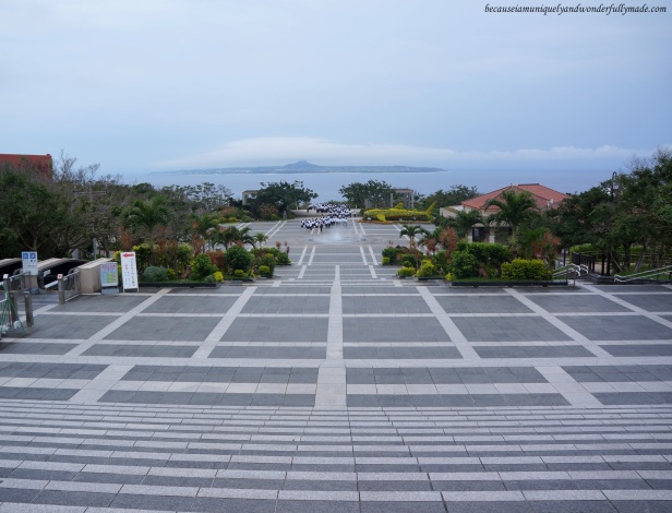 The Central Gate and Fountain Square at Ocean Expo Park in Motobu, Okinawa, Japan. 本部 朝基 , 沖縄県