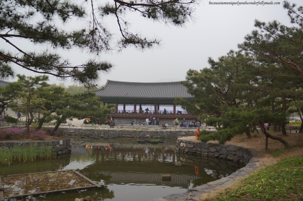 Cheonugak Pavilion at Namsangol Traditional Village in Jung-gu, Seoul, South Korea.