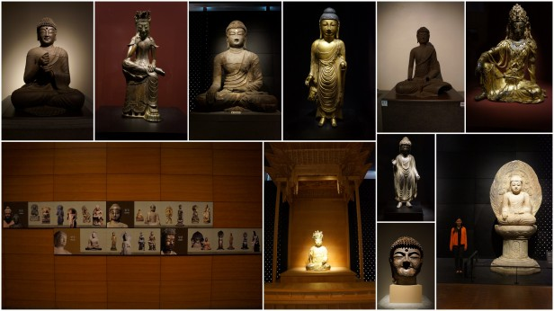 Buddha exhibit inside the National Museum of Korea 국립중앙박물관 in Yongsan, Seoul, South Korea.