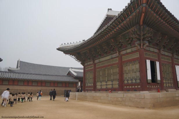 Sujeongjeon 수정전 used by the cabinet of the Joseon Dynasty at Gyeongbokgung Palace 경복궁 in Seoul, South Korea.