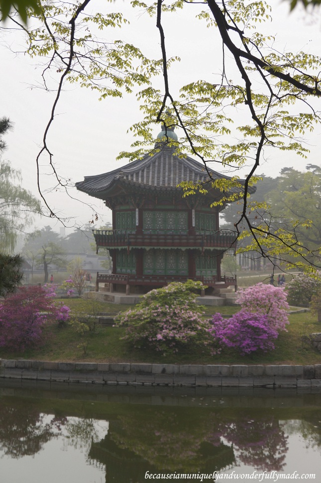 Hyangwonjeong  향원정 or Hyangwonjeong Pavilion at Gyeongbokgung Palace 경복궁 in Seoul, South Korea.