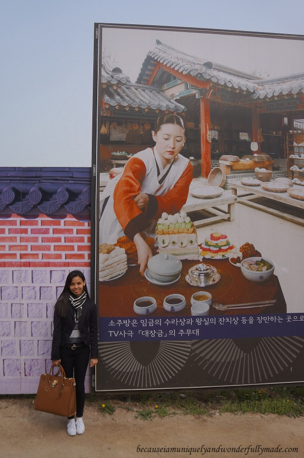A poster of Dae Jang Geum 대장금 (The Great Jang-geum), or the Jewel in the Palace, at Gyeongbokgung Palace 경복궁 in Seoul, South Korea.