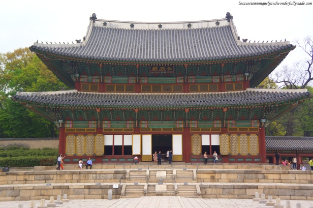 Injeongheon Hall 인정전, the main throne hall of Changdeokgung Palace 창덕궁 in Seoul, South Korea, was used for conducting major state affairs including the coronation of a new king, assembly of officials, and reception of foreign envoys.