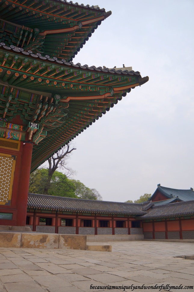 The courtyard on the side of Injeongheon Hall 인정전 at Changdeokgung Palace 창덕궁 in Seoul, South Korea.