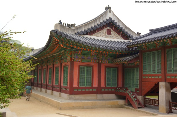 The back portion of Huijeongdang Hall (희정당) or the King's Chamber at Changdeokgung Palace 창덕궁 in Seoul, South Korea.