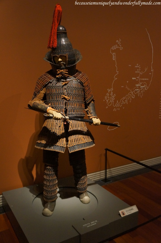 Gaya warrior as displayed inside the National Museum of Korea 국립중앙박물관 in Yongsan, Seoul, South Korea.