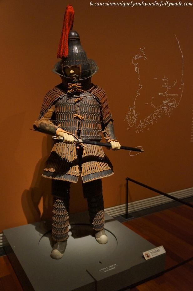 Gaya warrior as displayed inside the National Museum of Korea 국립중앙박물관 in Yongsan, Seoul, South Korea.