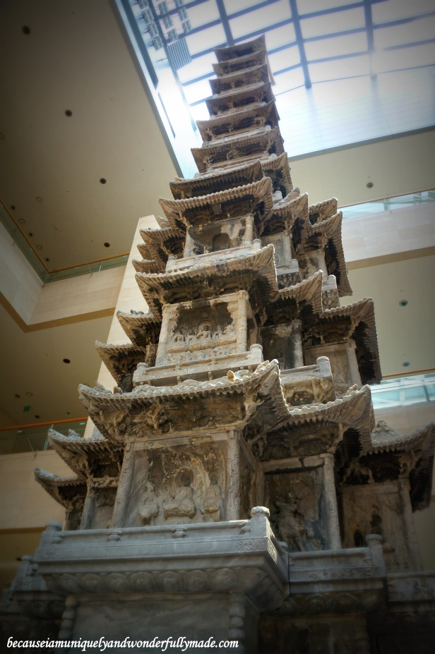 The Ten-story Stone Pagoda from Gyeongcheonsa Temple Site as exhibited inside the National Museum of Korea 국립중앙박물관 in Yongsan, Seoul.