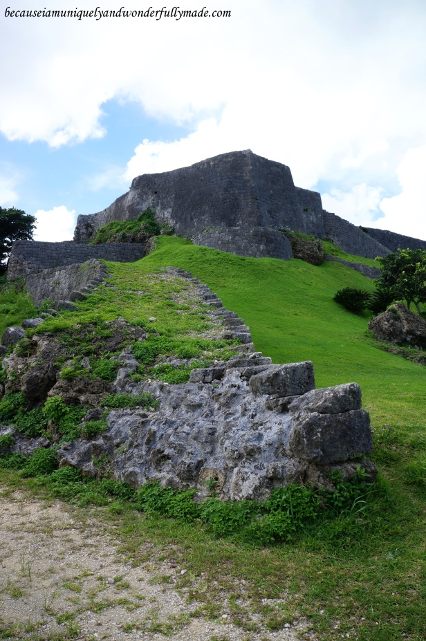 Katsuren Castle 勝連城 (Katsuren-gusuku), a UNESCO World Heritage Site located in Uruma City, Okinawa 沖縄県, Japan.