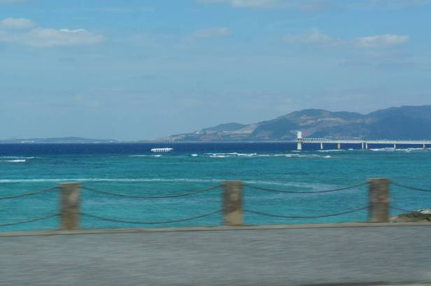 Breathtaking view as we drive from Ginowan to Nago City, Okinawa, Japan.