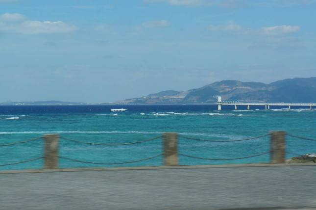 Breathtaking view as we drive from Ginowan to Nago City, Okinawa, Japan.