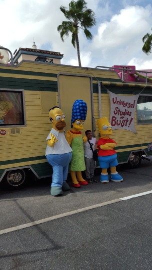 The Simpsons at Universal Studios Theme Park in Orlando, Florida, USA.