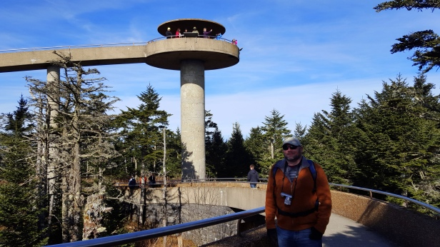 At 6,643 feet, Clingmans Dome is the highest point in the Great Smoky Mountains National Park.