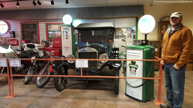 A 1927 Ford Model T as showcased in a Car Museum of classic cars inside Russell's Travel Center off Interstate 40 on New Mexico.