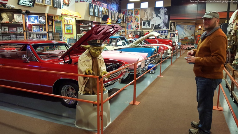 Car Museum of classic cars inside Russell's Travel Center off Interstate 40 on New Mexico.