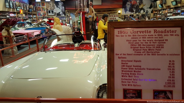 A 1955 Corvette Roadster as showcased in a Car Museum of classic cars inside Russell's Travel Center off Interstate 40 on New Mexico.