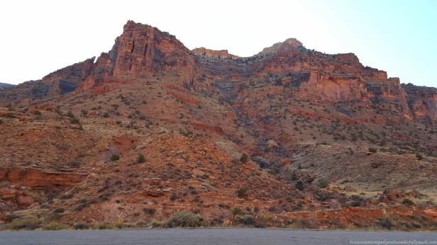 The scenic 44 mile long State Route 128 has been designated the Upper Colorado River Scenic Byway in Moab, Utab, USA.