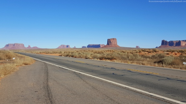 Leaving Monument Valley to head to Zion National Park in Springdale, Utah.