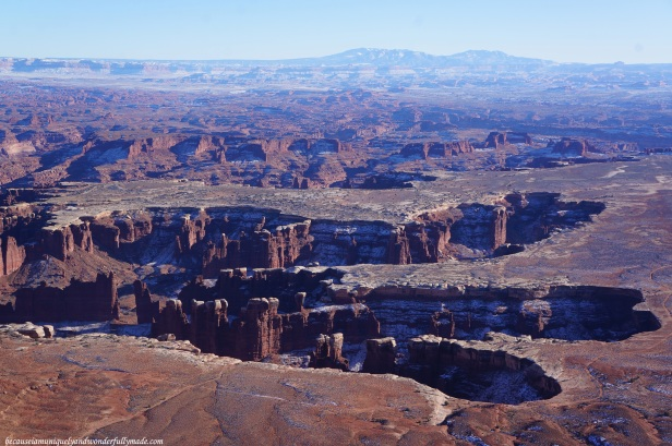 The canyons as seen from The Grand View Point at Canyonlands National Park in Moab, Utah.