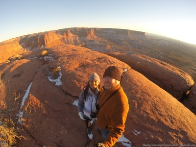 The Green River Lookout at sunset in Canyonlands National Park in Moab, Utah.