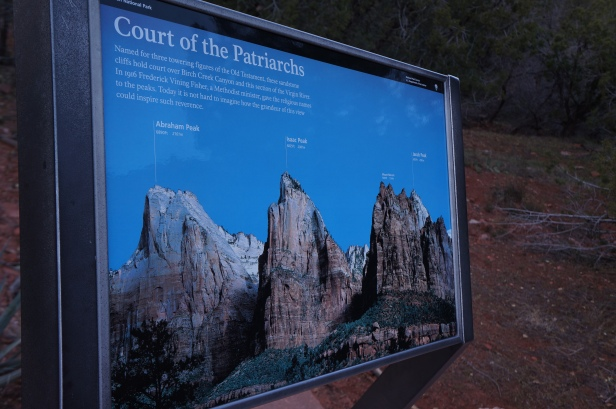 The Court of Patriarchs at Zion National Park in Utah.