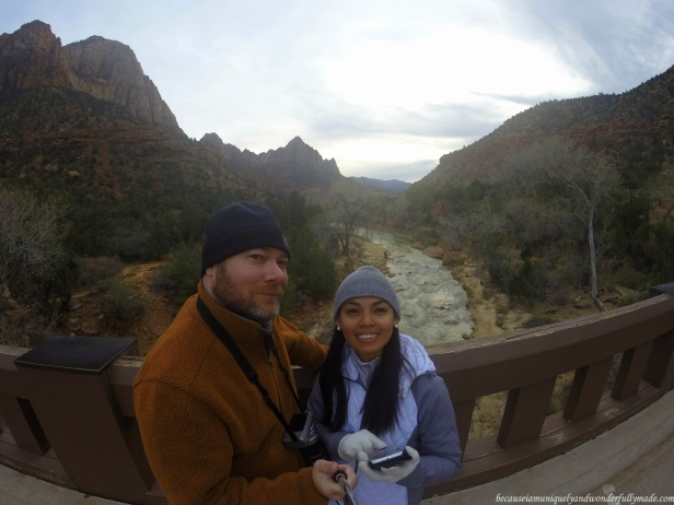 Waiting for sunset at Canyon Junction Bridge at Zion National Park in Springdale, Utah.