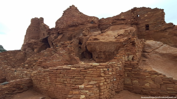 One of the over 100 rooms at Wupatki Ruins at Wupatki National Monument in Arizona.
