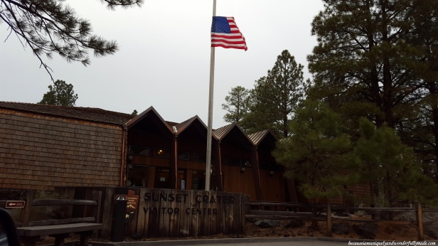 The Visitor Center at Sunset Crater Volcano National Monument in Flagstaff, Arizona.