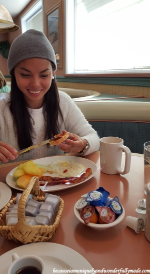 Big breakfast for the birthday girl before visiting the Grand Canyon (South Rim).