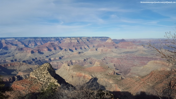 The Grandview Point of the Southern Rim of the Grand Canyon in Arizona.