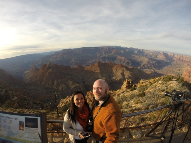 The Desert View Point at Grand Canyon is a favorite spot for photographers especially during sunset.