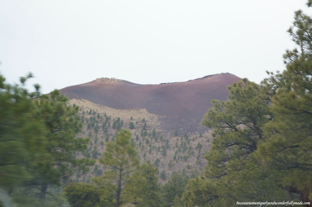 A closer look of Sunset Crater Volcano in Flagstaff, Arizona.