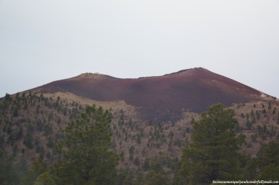 A closer view of Sunset Crater Volcano in Flagstaff, Arizona.