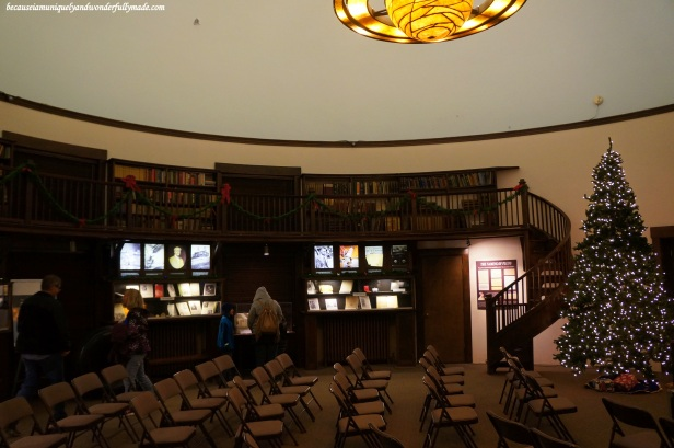 Rotunda Library at Lowell Observatory in Flagstaff, Arizona.