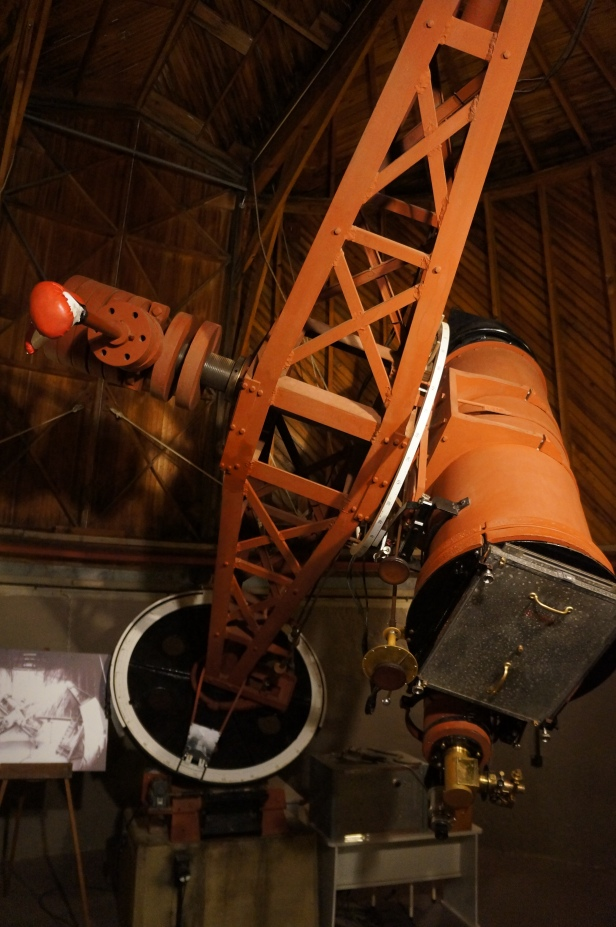 The 33 cm (13-inch) Abbott L. Lowell Astrograph which is the the historic 13-inch telescope used by Clyde Tombaugh to discover Pluto in 1930.