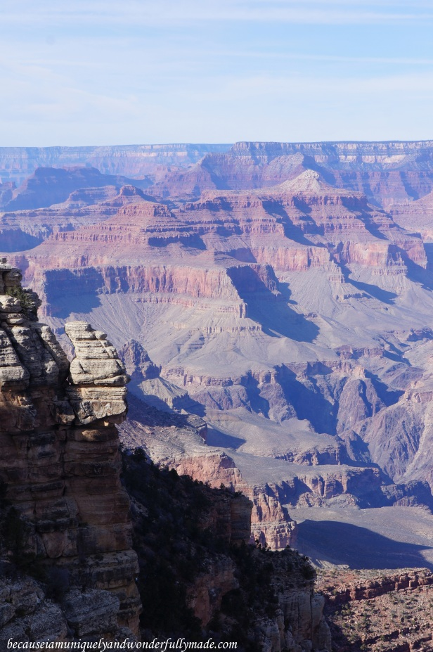 The Grand Canyon as viewed from Mather Point.