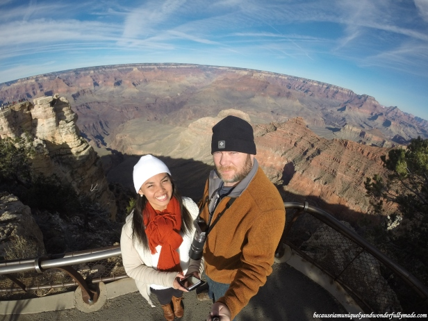 The Mather Point Lookout is the closest to the entrance station of the Grand Canyon National Park. It is only a short walk from the park's Visitor Center.