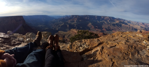 Unobstructed panorama view of the Grand Canyon at Lipan Point.