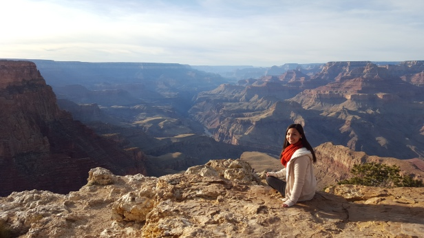 Enjoying my birthday at the Lipan Point of the Southern Rim of Grand Canyon in Arizona.
