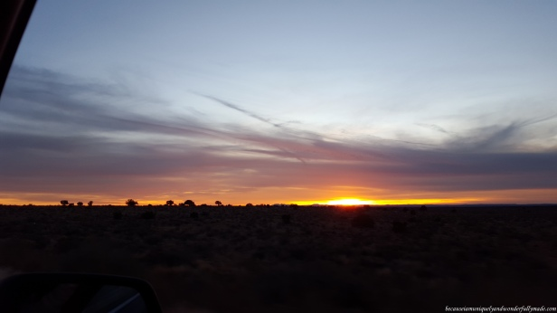 The 5 hour drive from Grand Canyon to Las Vegas gave us the chance to enjoy majestic sunsets like this.
