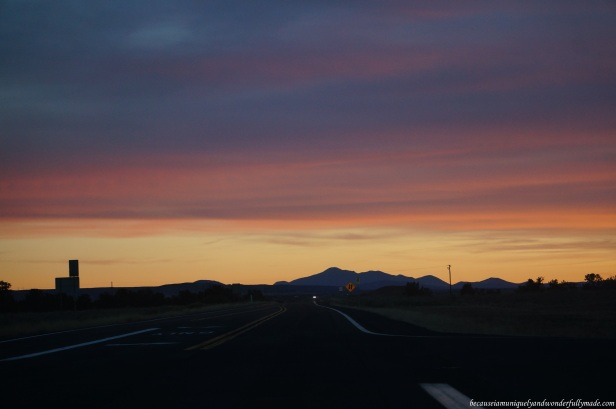 One glorious sunset during our drive from Grand Canyon to Las Vegas.