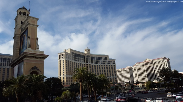 The Bellagio and Caeasar's Palace along the new Las Vegas strip.