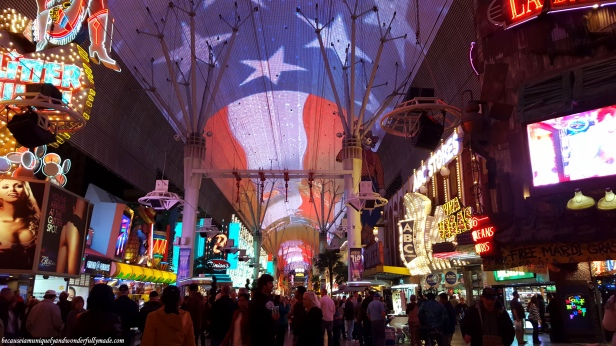 Ziplining inside the old Las Vegas strip is one way to make tourists' visit more memorable.