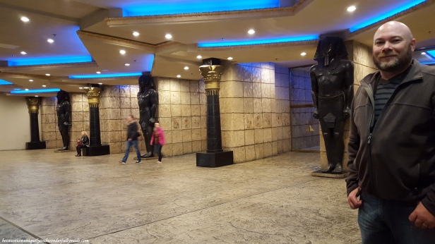 Inside the Luxor Hotel in Las Vegas which was named after the city of Luxor (ancient Thebes) in Egypt.