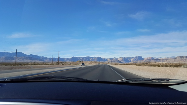 Driving out of Las Vegas via Blue Diamond Road on Nevada Highway 160 West as we were heading to our new home, California.