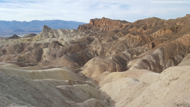 The Red Cathedral at Zabriskie Point in Death Valley National Park in California.