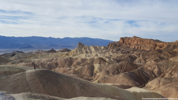 Overlooking the basin of Death Valley National Park from Zabriskie Point.